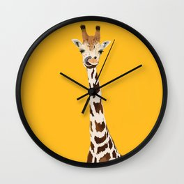 The Nose-picking Giraffe (no fingers needed) Wall Clock