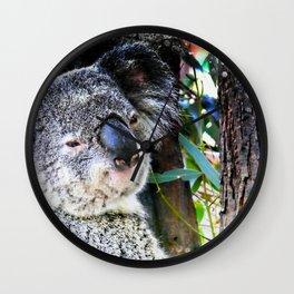 Koala smiling face Wall Clock