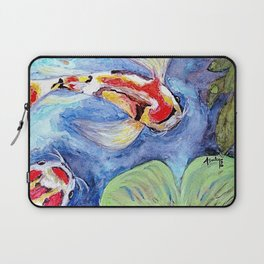 Butterfly Koi #1 by Annette Bailey Laptop Sleeve