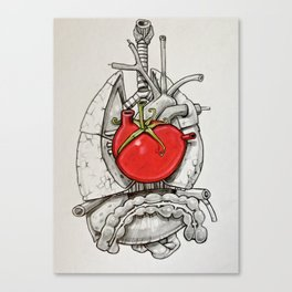 The Beat of The Tomato Canvas Print