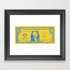 YELLOW MONEY Framed Art Print