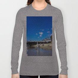 San Diego Beach Boardwalk/Crystal Pier Long Sleeve T-shirt