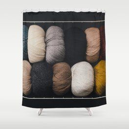 Warm Fuzzy Knits Shower Curtain