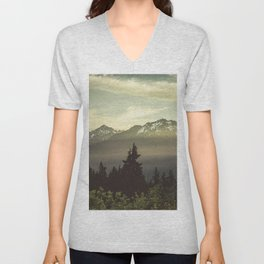 Morning in the Mountains Unisex V-Neck