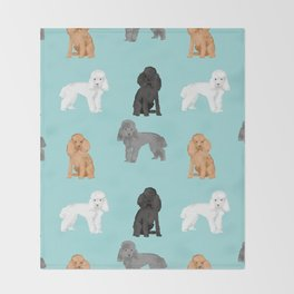 Toy Poodles mixed coat colors dog breed gifts pet portraits must haves poodles Throw Blanket