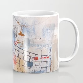 Breaking Down The Walls Blue Abstract Coffee Mug