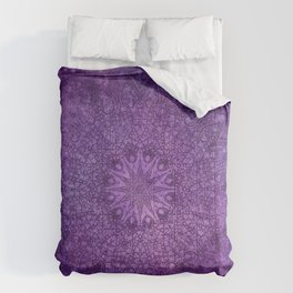 star mandala deep in the dark purple dream Comforters