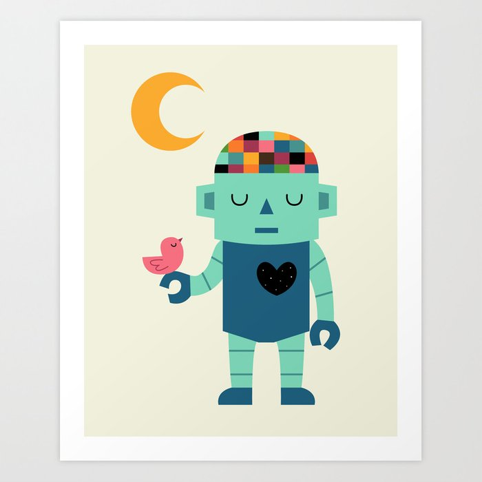 Robot Dreams Art Print