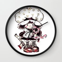 strawberry cake Hoot Wall Clock