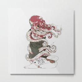 My head is an octopus Metal Print