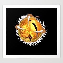 Copperhead Dragon's Eye Art Print