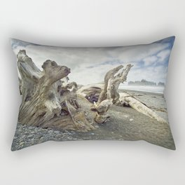 Driftwood on Rialto Beach No 0163 Rectangular Pillow