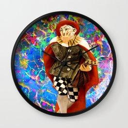 Clown Troubadour Wall Clock