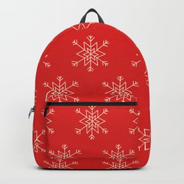 Seamless pattern with snowflakes Backpack