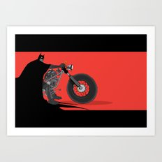bat bike  Art Print