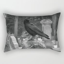 Crow In Shades Of Stone Rectangular Pillow