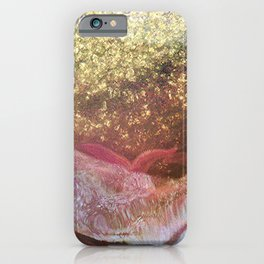 Sea stars and mussels around the pole in low tide iPhone Case
