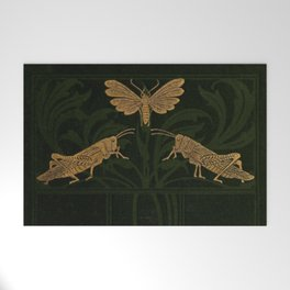 Art Nouveau Insects Welcome Mat