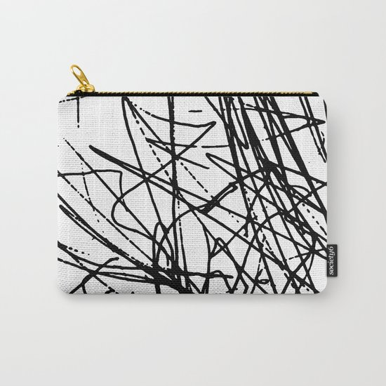 Daisy Scribble Carry-All Pouch