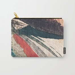 Thunder&Lightning {3}: Minimal watercolor abstract in pinks, blues, and greens Carry-All Pouch