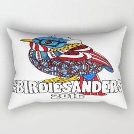 Bernie Sanders Bird!  Birdie Sanders!  Feel The Bern Rectangular Pillow