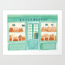 Bakery Storefront Painting Art Print