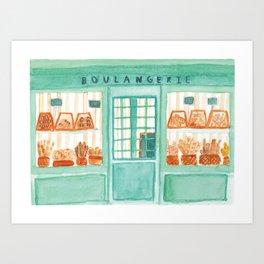 Bakery Storefront Painting Art Print