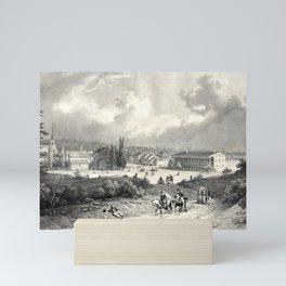 Circa 1829 Jacques Gerard Milbert, illustration of Saratoga , Bains de Saratoga. Mini Art Print