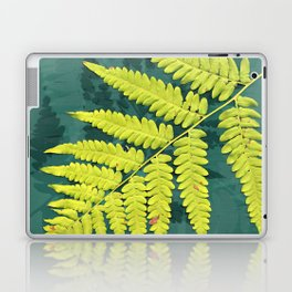 From the forest - lime green on teal Laptop & iPad Skin