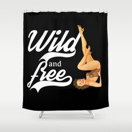 Wild and free,retro style Shower Curtain