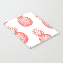 Coral Pineapple Notebook