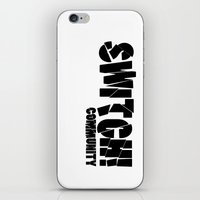 community iPhone & iPod Skins featuring Switch! Community by Nikki Xiao