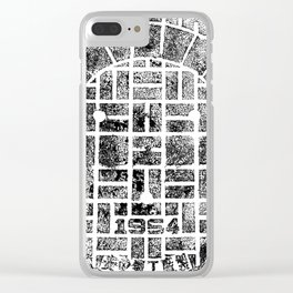 1954 Manhole Cover Ink Print From Beijing Clear iPhone Case