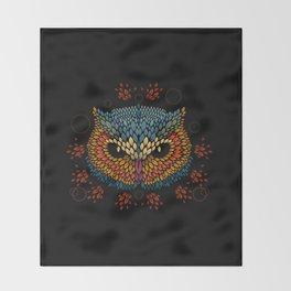 Owl Face Throw Blanket
