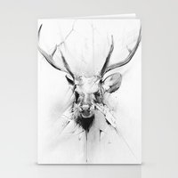 stag Stationery Cards featuring Stag by Alexis Marcou