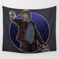 star lord Wall Tapestries featuring Peter Quill the Star Lord by Arnix