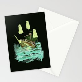 ghost pirate boat Stationery Cards