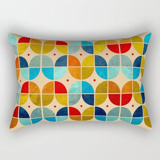Happy tulips grunge Rectangular Pillow