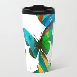 Green Butterflies Travel Mug
