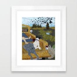 Crows in Lost Park Framed Art Print