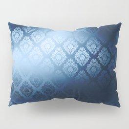 """Navy blue Damask Pattern"" Pillow Sham"