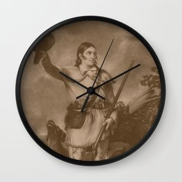 Colonel Davy Crockett Wall Clock