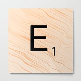 Scrabble E - Large Scrabble Tiles Metal Print