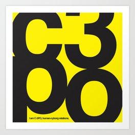 SW C3PO Art Print