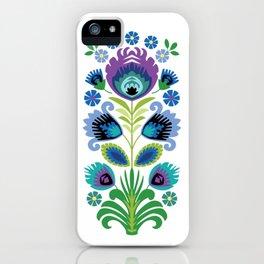 Polish Folk Flowers Purple iPhone Case