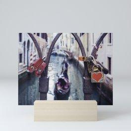 Romantic Venice Love Locks Mini Art Print