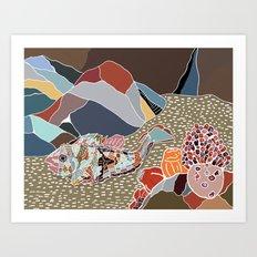 rockfish in situ Art Print