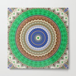 Recreational Maylanta Mandala 91 Metal Print