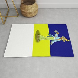 The clown with the flower Rug