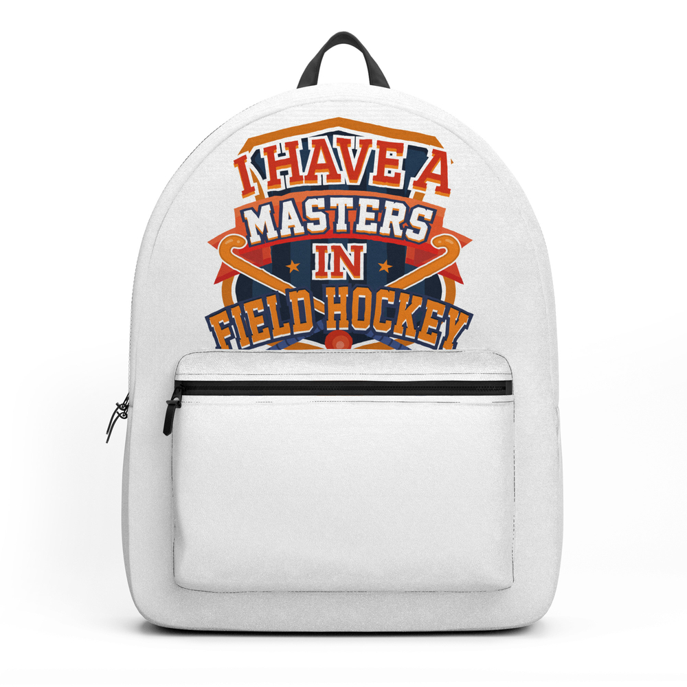 Field Hockey Player Masters in Field Hockey Backpack by kanigdesigns